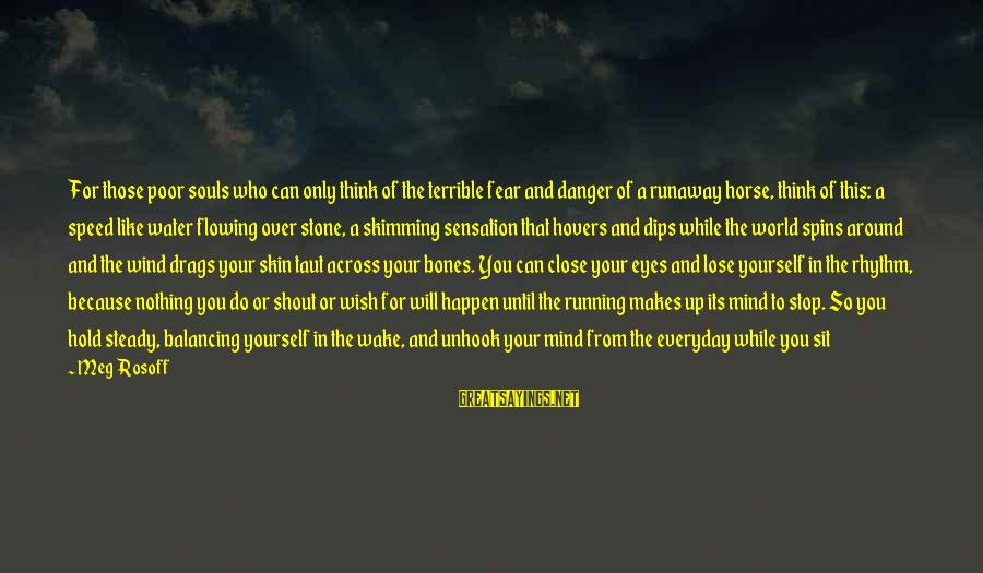 Fear To Lose You Sayings By Meg Rosoff: For those poor souls who can only think of the terrible fear and danger of