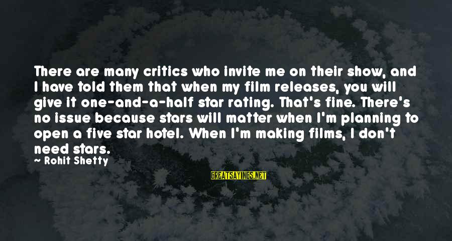 Film Stars Sayings By Rohit Shetty: There are many critics who invite me on their show, and I have told them