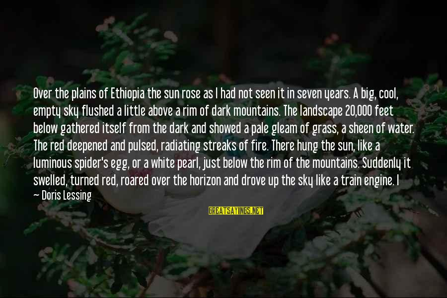 Fire In The Sky Sayings By Doris Lessing: Over the plains of Ethiopia the sun rose as I had not seen it in