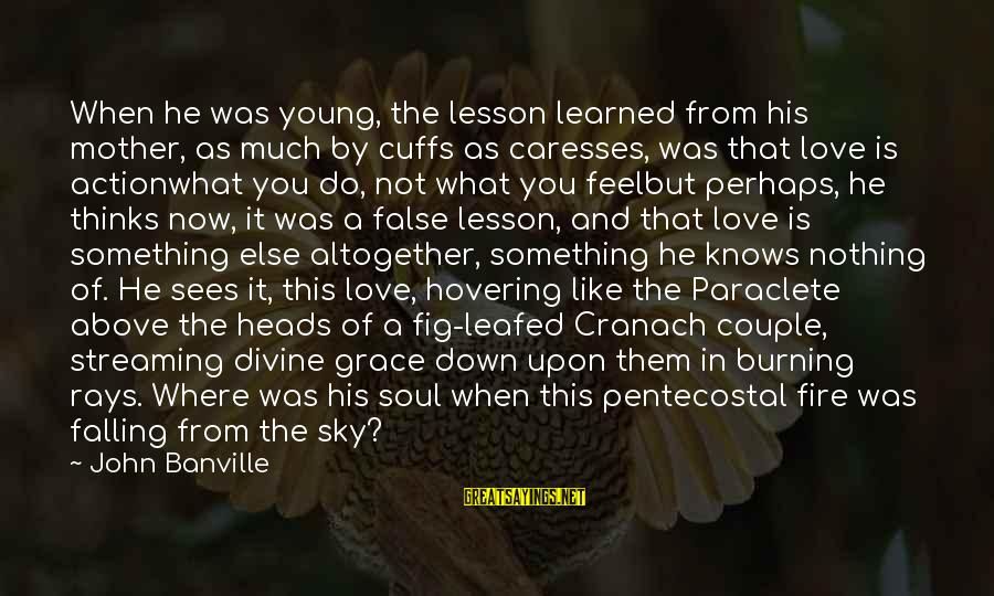 Fire In The Sky Sayings By John Banville: When he was young, the lesson learned from his mother, as much by cuffs as