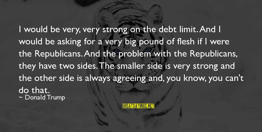 Flesh Pound Sayings By Donald Trump: I would be very, very strong on the debt limit. And I would be asking