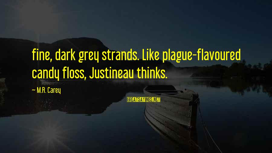 Floss Sayings By M.R. Carey: fine, dark grey strands. Like plague-flavoured candy floss, Justineau thinks.