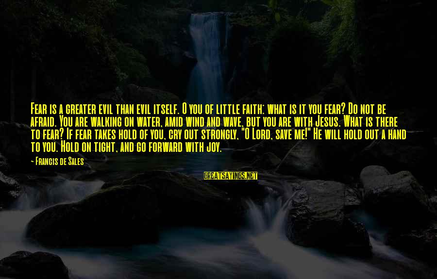 Francis De Sales Sayings By Francis De Sales: Fear is a greater evil than evil itself. O you of little faith: what is