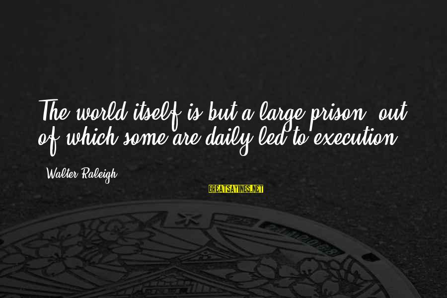 Freud Dora Sayings By Walter Raleigh: The world itself is but a large prison, out of which some are daily led