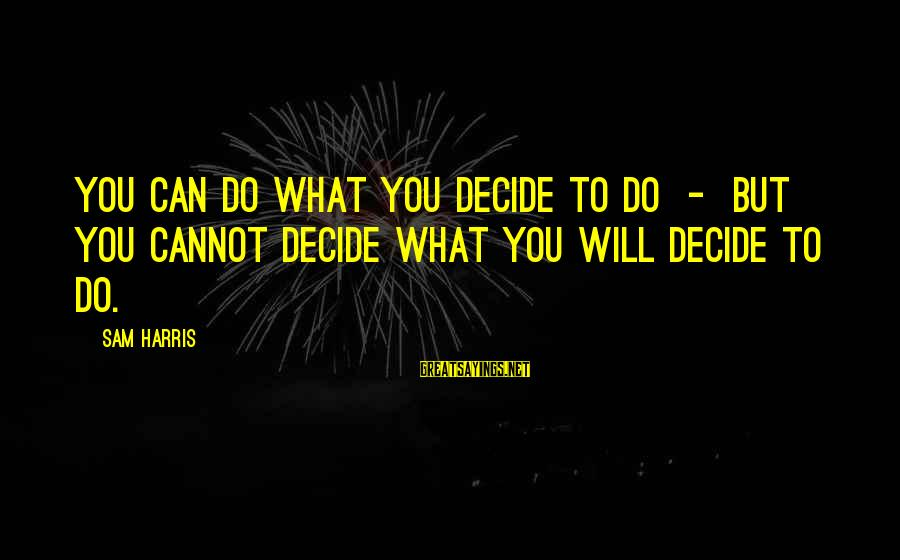 Funny 4th July Fireworks Sayings By Sam Harris: You can do what you decide to do - but you cannot decide what you