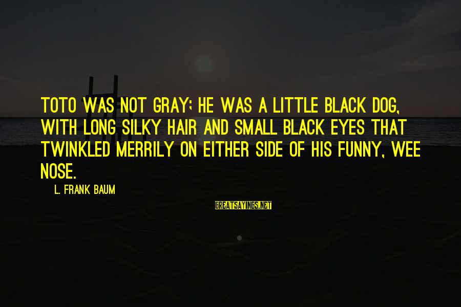 Funny Black Sayings By L. Frank Baum: Toto was not gray; he was a little black dog, with long silky hair and