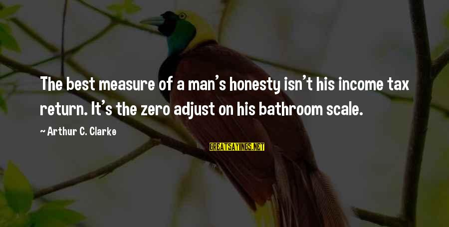 Funny Honesty Sayings By Arthur C. Clarke: The best measure of a man's honesty isn't his income tax return. It's the zero