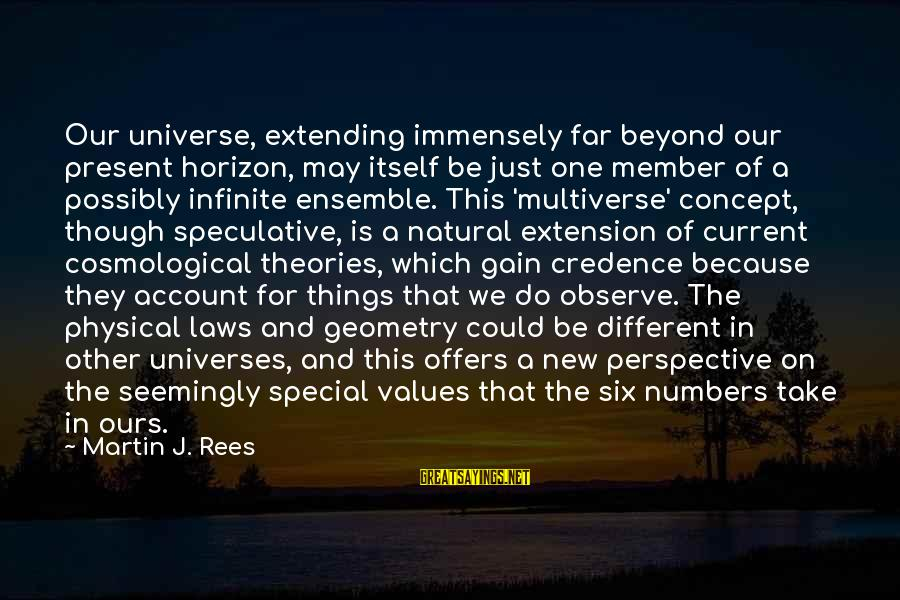 Funny Payout Sayings By Martin J. Rees: Our universe, extending immensely far beyond our present horizon, may itself be just one member