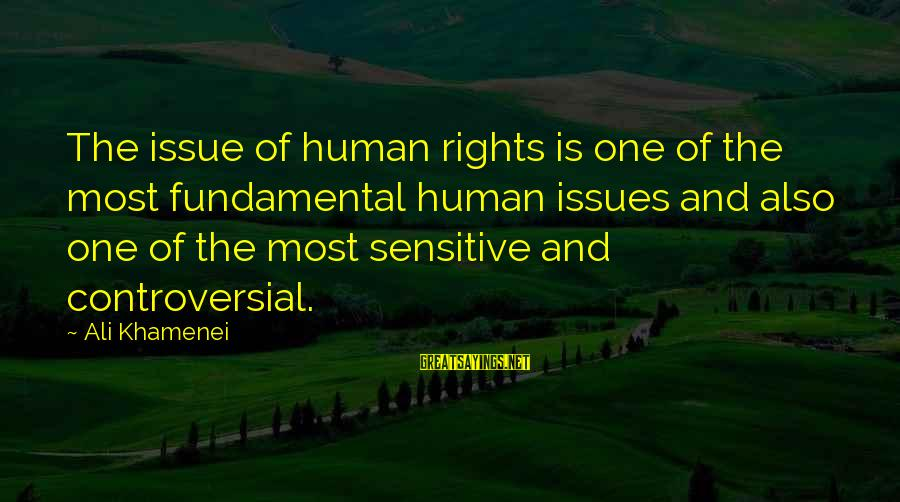 Funny Violin Sayings By Ali Khamenei: The issue of human rights is one of the most fundamental human issues and also