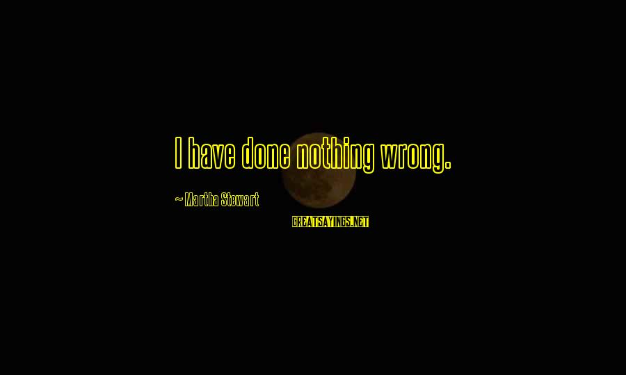 Funny Violin Sayings By Martha Stewart: I have done nothing wrong.