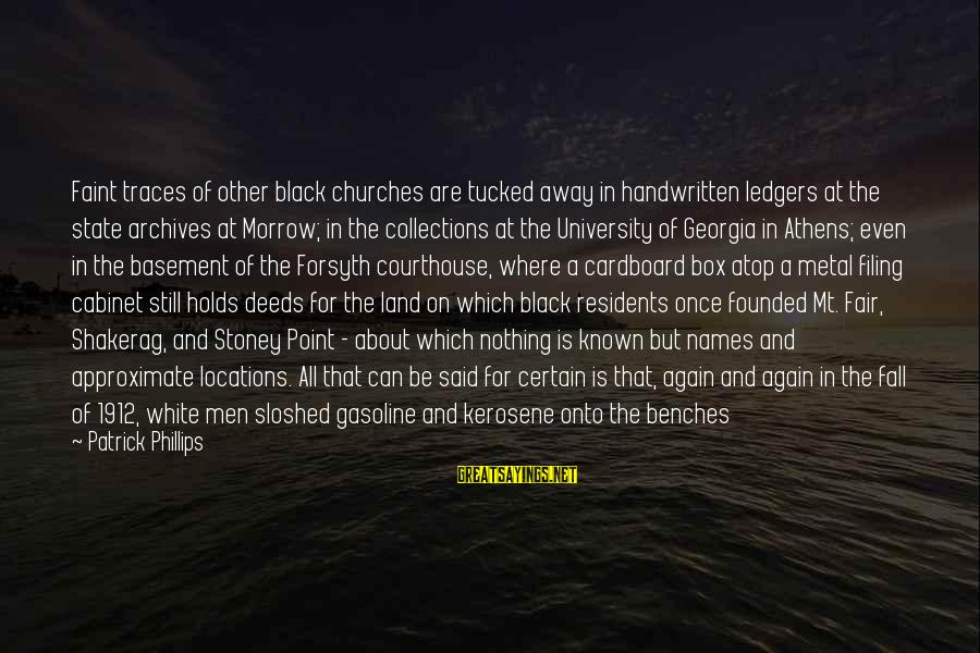 G.j Stoney Sayings By Patrick Phillips: Faint traces of other black churches are tucked away in handwritten ledgers at the state