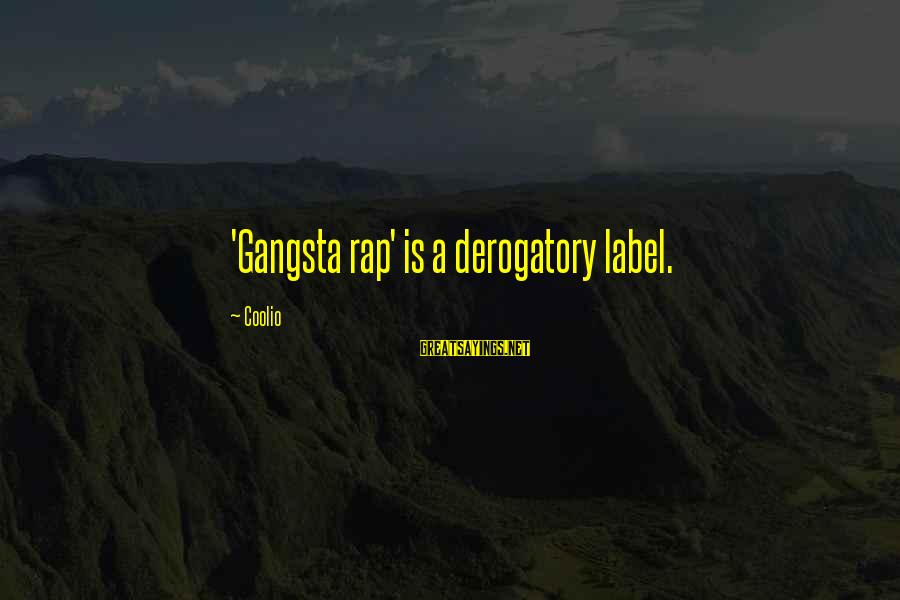 Gangsta'slineage Sayings By Coolio: 'Gangsta rap' is a derogatory label.