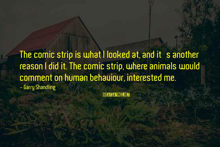 Garry Shandling Sayings By Garry Shandling: The comic strip is what I looked at, and it's another reason I did it.
