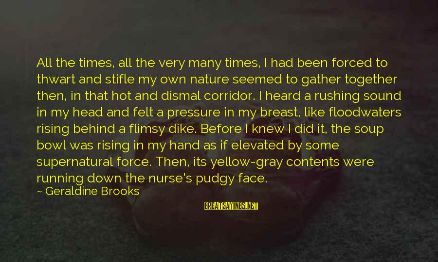 Geraldine's Sayings By Geraldine Brooks: All the times, all the very many times, I had been forced to thwart and