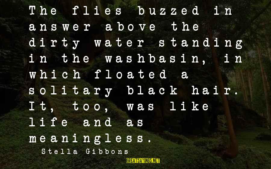 Gibbons's Sayings By Stella Gibbons: The flies buzzed in answer above the dirty water standing in the washbasin, in which