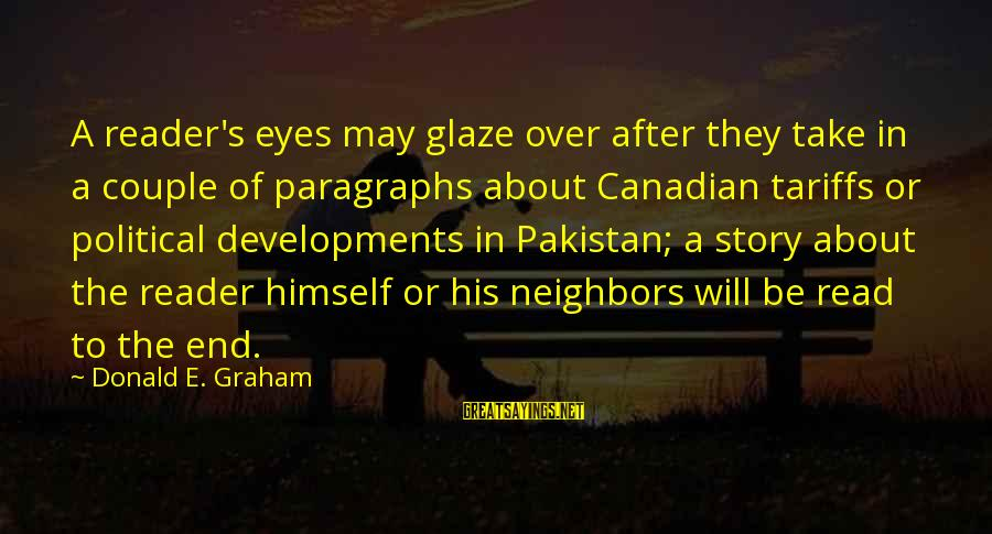 Glaze Sayings By Donald E. Graham: A reader's eyes may glaze over after they take in a couple of paragraphs about