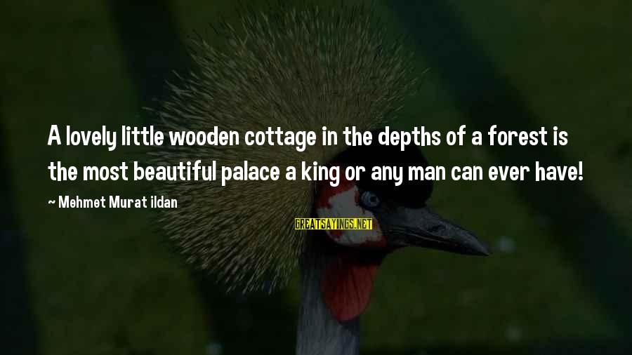Gmc Sayings By Mehmet Murat Ildan: A lovely little wooden cottage in the depths of a forest is the most beautiful