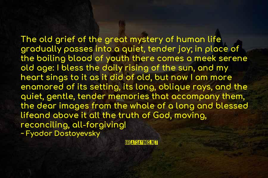 God Images And Sayings By Fyodor Dostoyevsky: The old grief of the great mystery of human life gradually passes into a quiet,