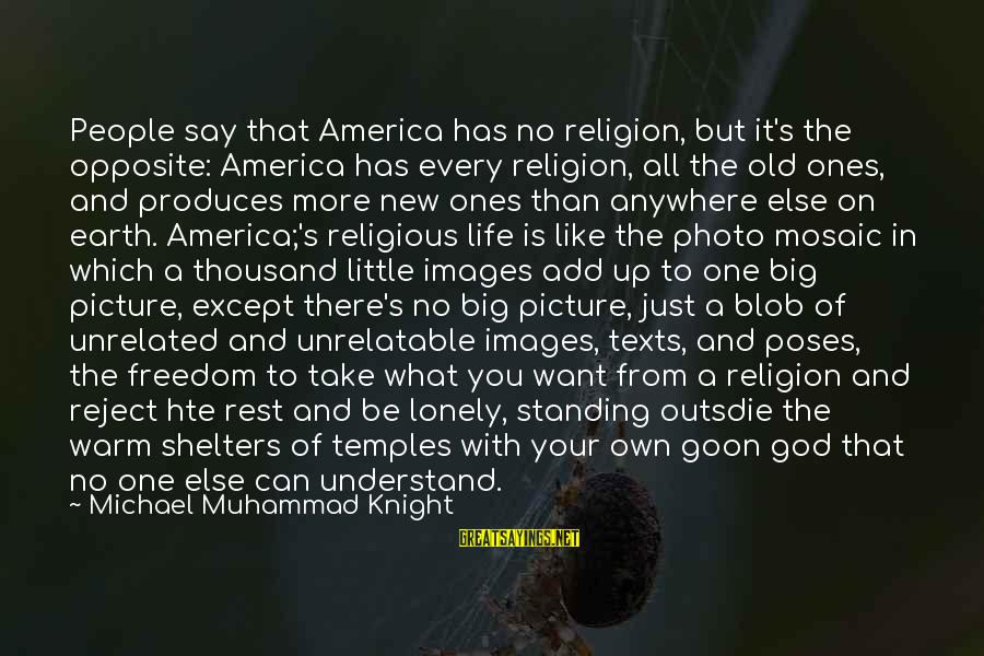 God Images And Sayings By Michael Muhammad Knight: People say that America has no religion, but it's the opposite: America has every religion,