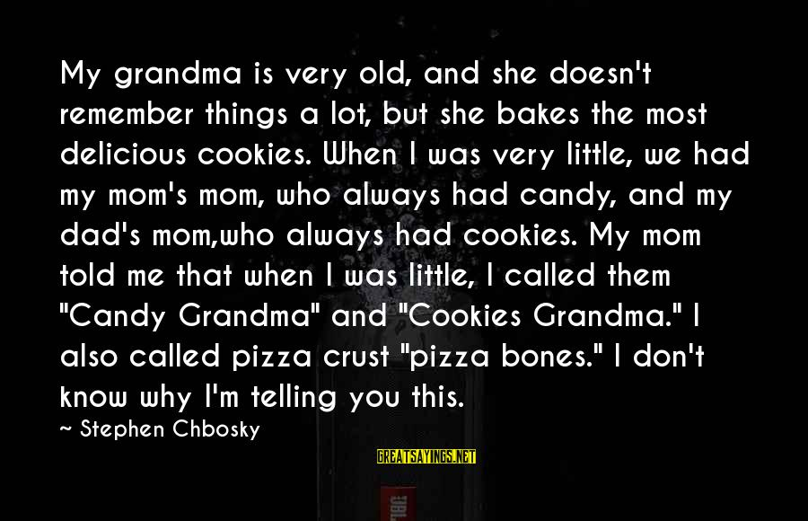 Good Short Trust Sayings By Stephen Chbosky: My grandma is very old, and she doesn't remember things a lot, but she bakes