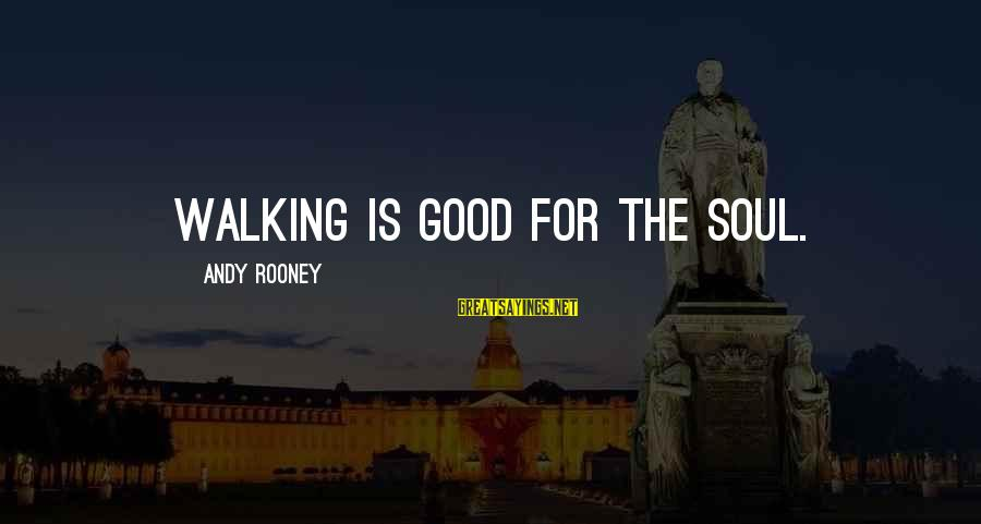 Good Soul Sayings By Andy Rooney: Walking is good for the soul.