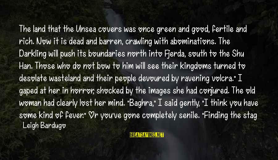 Good Thing Gone Sayings By Leigh Bardugo: The land that the Unsea covers was once green and good, fertile and rich. Now