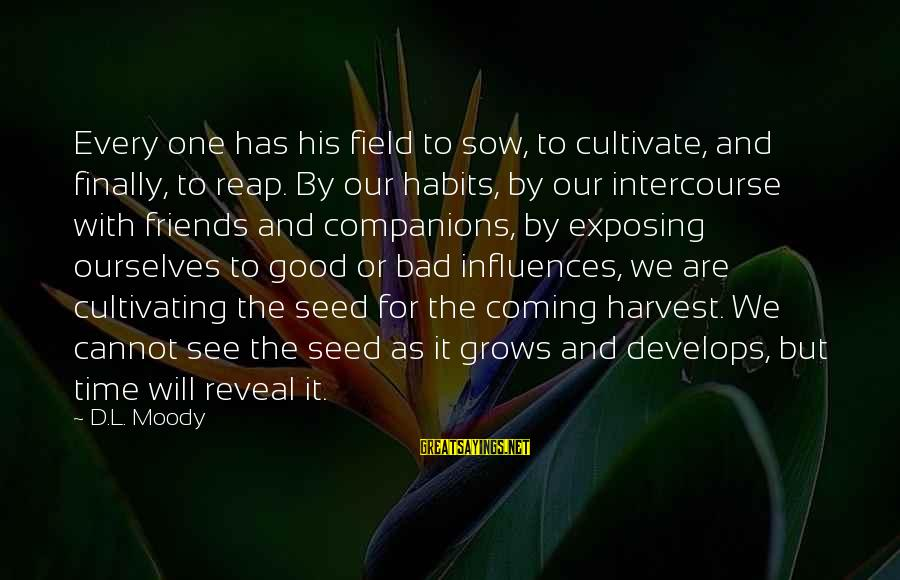 Good Time With Friends Sayings By D.L. Moody: Every one has his field to sow, to cultivate, and finally, to reap. By our