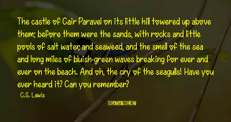 Green Miles Sayings By C.S. Lewis: The castle of Cair Paravel on its little hill towered up above them; before them