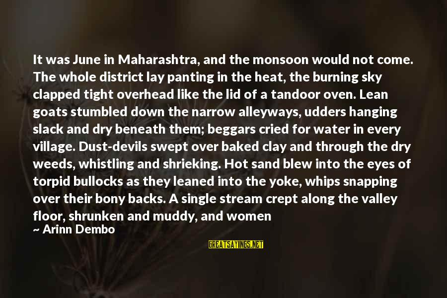 Hanging Laundry Sayings By Arinn Dembo: It was June in Maharashtra, and the monsoon would not come. The whole district lay