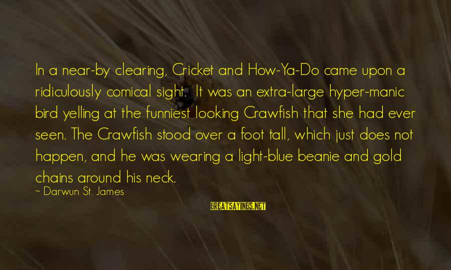 Happen Sayings By Darwun St. James: In a near-by clearing, Cricket and How-Ya-Do came upon a ridiculously comical sight. It was