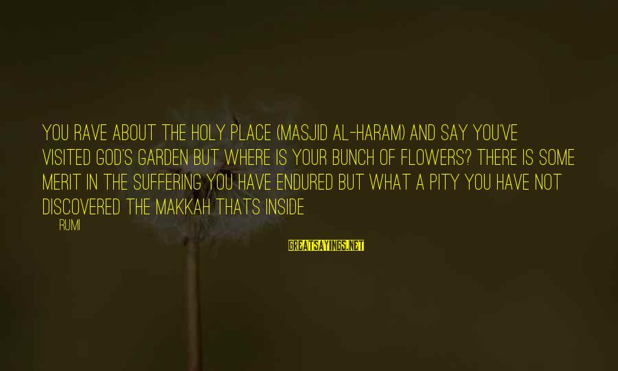Haram's Sayings By Rumi: You rave about the Holy Place (Masjid al-Haram) and say you've visited God's garden but