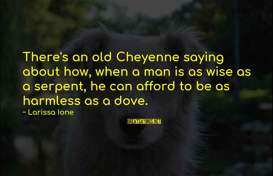 Harmless Sayings By Larissa Ione: There's an old Cheyenne saying about how, when a man is as wise as a