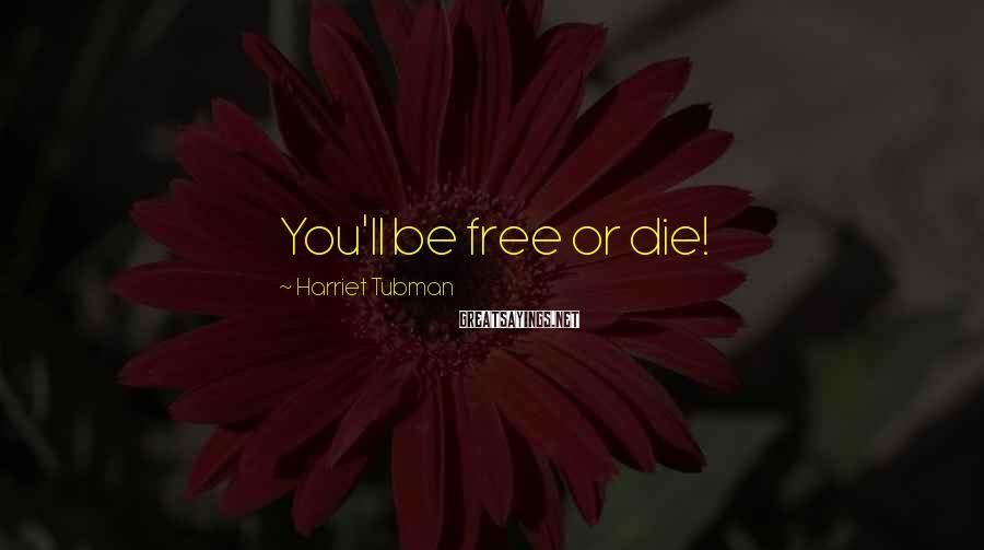 Harriet Tubman Sayings: You'll be free or die!