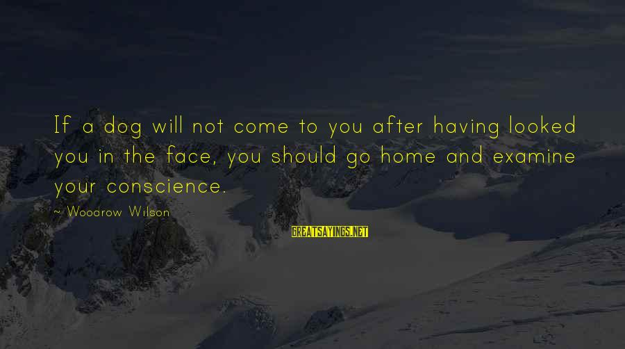 Having Hobbies Sayings By Woodrow Wilson: If a dog will not come to you after having looked you in the face,