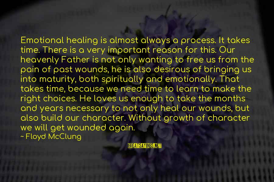 Healing Emotionally Sayings By Floyd McClung: Emotional healing is almost always a process. It takes time. There is a very important