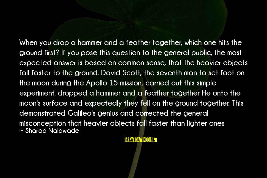 Heavier Than Sayings By Sharad Nalawade: When you drop a hammer and a feather together, which one hits the ground first?