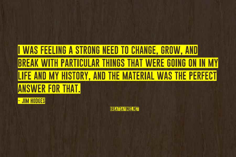 Henrysexual Sayings By Jim Hodges: I was feeling a strong need to change, grow, and break with particular things that