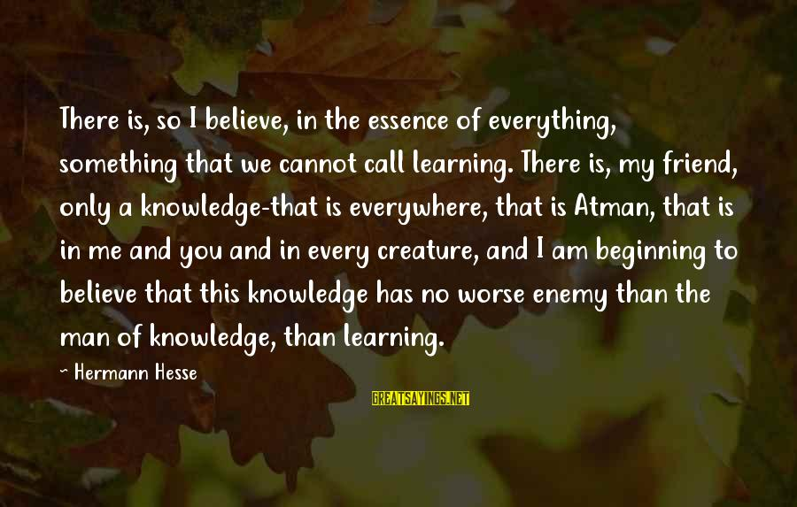 Hesse Sayings By Hermann Hesse: There is, so I believe, in the essence of everything, something that we cannot call