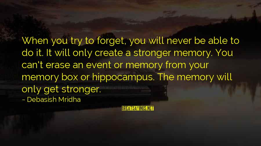 How Do You Do Box Sayings By Debasish Mridha: When you try to forget, you will never be able to do it. It will