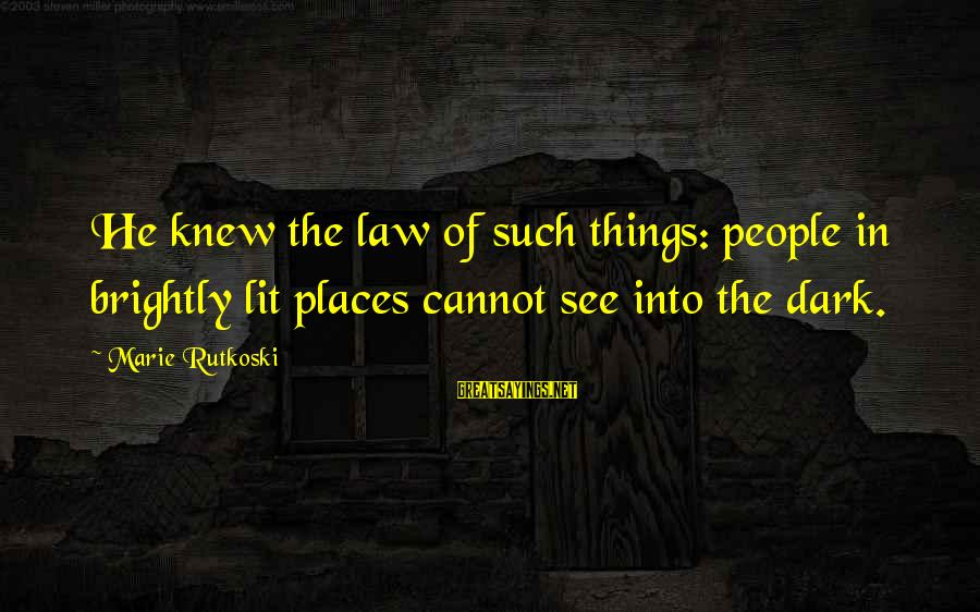 Hypatia Of Alexandria Sayings By Marie Rutkoski: He knew the law of such things: people in brightly lit places cannot see into