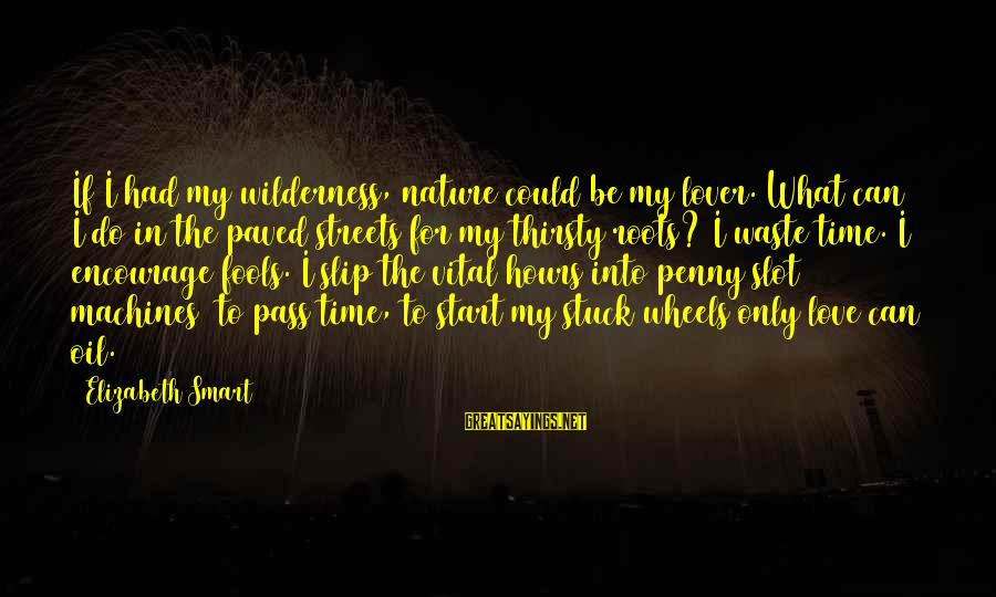 I Am A Nature Lover Sayings By Elizabeth Smart: If I had my wilderness, nature could be my lover. What can I do in