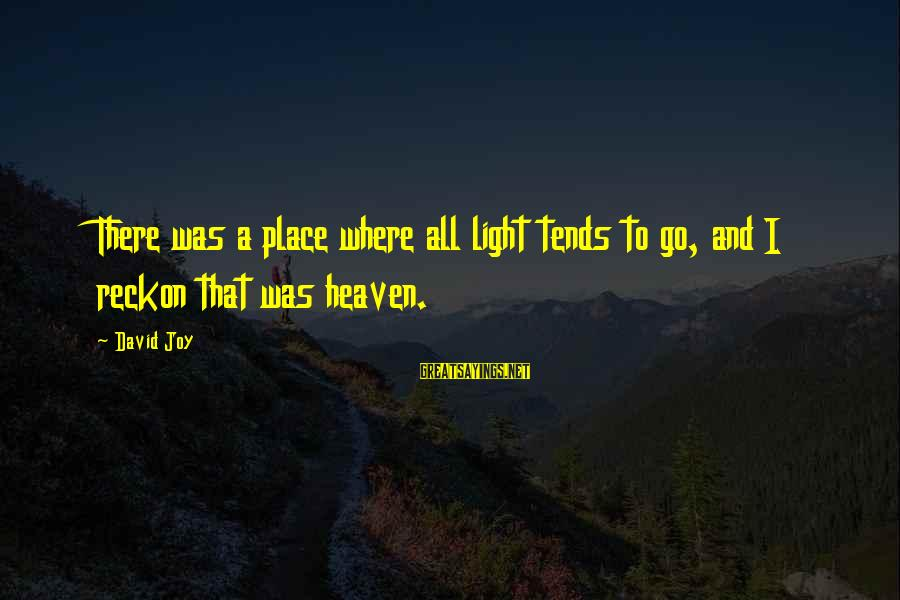I Reckon Sayings By David Joy: There was a place where all light tends to go, and I reckon that was