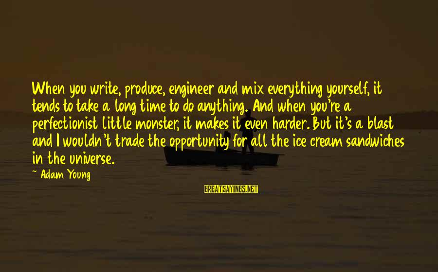 I Wouldn't Trade You For Anything Sayings By Adam Young: When you write, produce, engineer and mix everything yourself, it tends to take a long