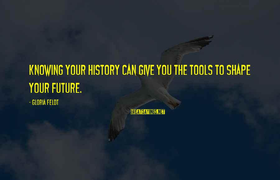 Ian Percy Sayings By Gloria Feldt: Knowing your history can give you the tools to shape your future.