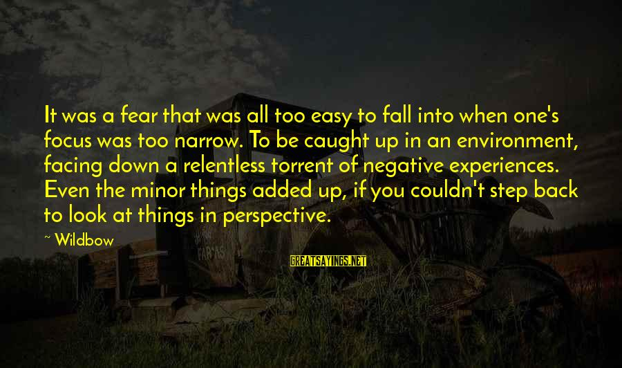 If It Too Easy Sayings By Wildbow: It was a fear that was all too easy to fall into when one's focus
