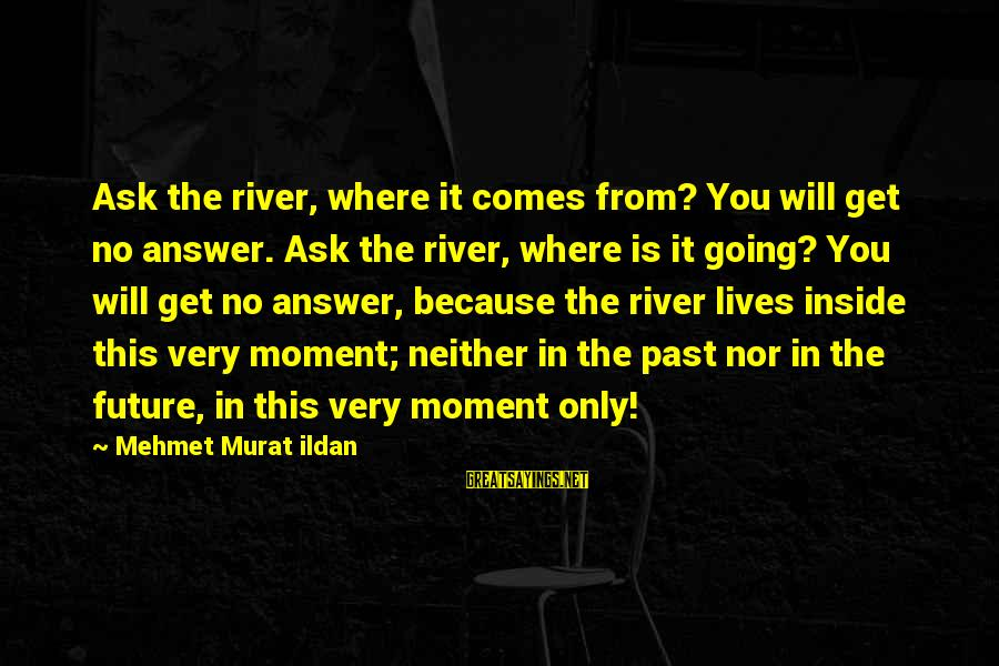 Imam Suhaib Webb Sayings By Mehmet Murat Ildan: Ask the river, where it comes from? You will get no answer. Ask the river,