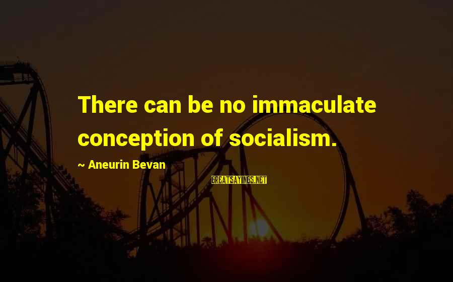 Immaculate Conception Sayings By Aneurin Bevan: There can be no immaculate conception of socialism.