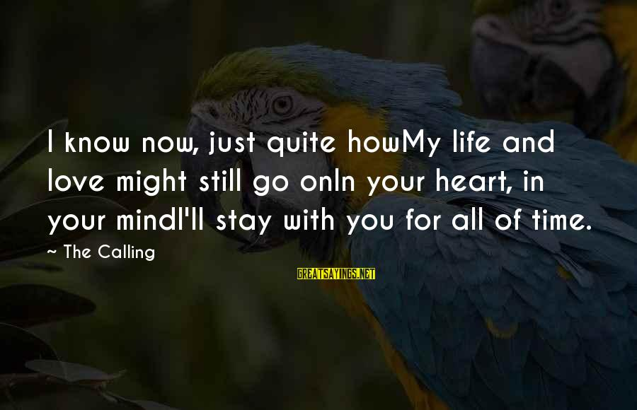 In Your Time Of Loss Sayings By The Calling: I know now, just quite howMy life and love might still go onIn your heart,