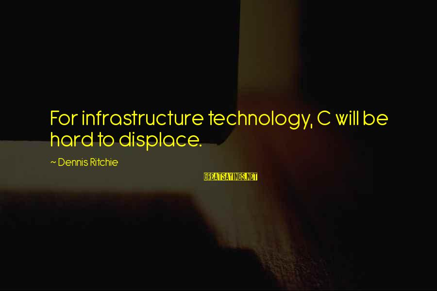 Infrastructure Sayings By Dennis Ritchie: For infrastructure technology, C will be hard to displace.