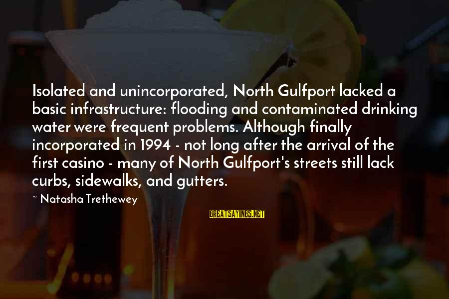 Infrastructure Sayings By Natasha Trethewey: Isolated and unincorporated, North Gulfport lacked a basic infrastructure: flooding and contaminated drinking water were